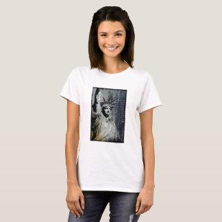 Camiseta estatua de la pintura del poema del arte de Nueva