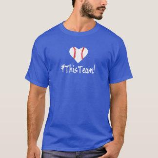 Camiseta Este aficionado al béisbol de L.A. Blue del equipo