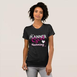 Camiseta Este chica del planificador ama el planear de la
