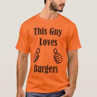 Camiseta Este individuo ama las hamburguesas