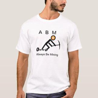 Camiseta Esté minando siempre Bitcoin