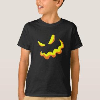 Camiseta Estilo asustadizo B de la cara de la calabaza