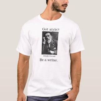Camiseta ¿Estilo conseguido? Sea un escritor. Joseph Conrad