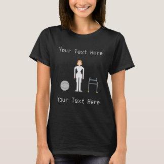 Camiseta Estilo de encargo de la hembra 8Bits de la