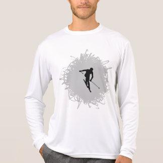 Camiseta Estilo del garabato del esquí