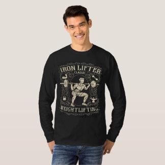 Camiseta Estilo del vintage del Weightlifter del hierro