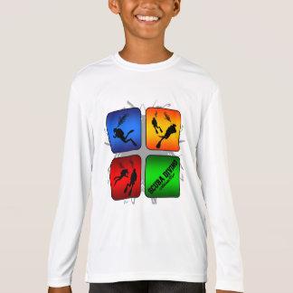 Camiseta Estilo urbano del buceo con escafandra asombroso