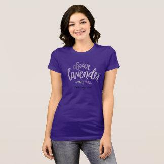 Camiseta estimada púrpura de la lavanda…