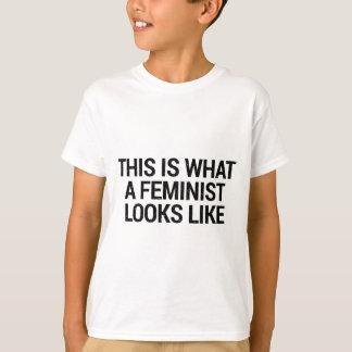 Camiseta Esto es lo que parece una feminista