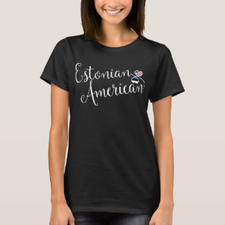 Camiseta estonia de los corazones de Entwinted del