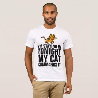 Camiseta ESTOY PERMANECIENDO EN ESTA NOCHE que MI CAT LA