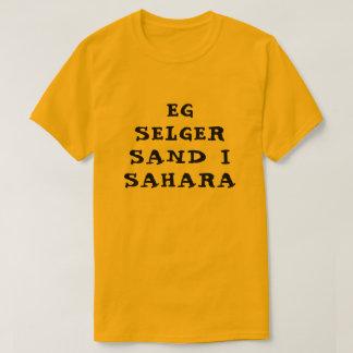 Camiseta Estoy vendiendo la arena en Sáhara en naranja