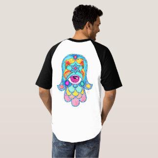 Camiseta Estrella/Hamsa del arco iris combinado