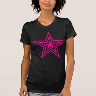 Camiseta Estrella rosada triple
