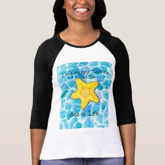 Camiseta Estrellas de mar felices caprichosas en el océano