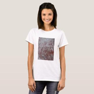 Camiseta estudio floral de da Vinci por Whiteman ambarino