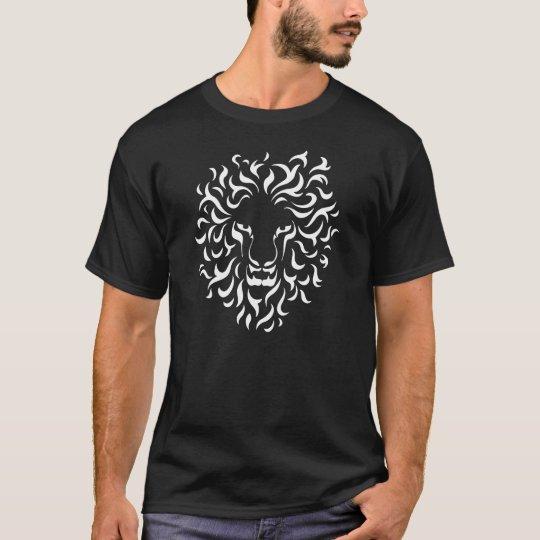 Camiseta Ethnic Lion Head. Color white.