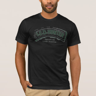 Camiseta Etiqueta del cazador de IED