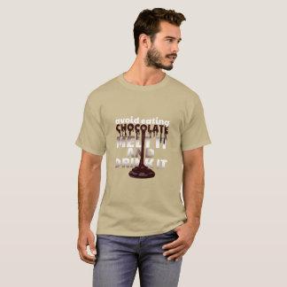 Camiseta Evite comer derretimiento del chocolate que lo