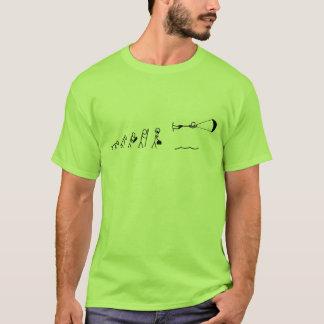Camiseta evolución de los hombres kiteboarding