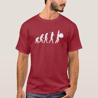 Camiseta Evolución de un batería bajo (colores oscuros)