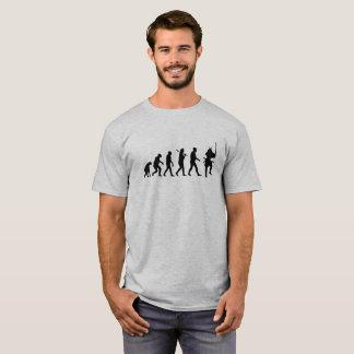 Camiseta Evolución de un logotipo del negro del samurai