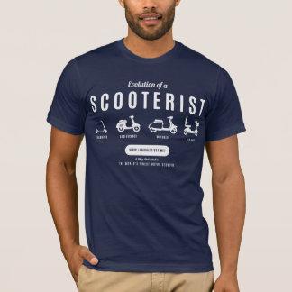 Camiseta Evolución de un Scooterist… Impresión blanca