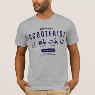 Camiseta Evolución de un Scooterist - impresión de la