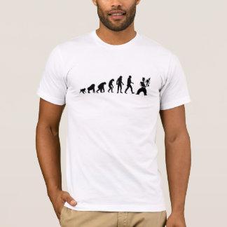 Camiseta Evolución humana: Violinista moderno
