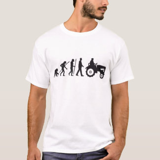 Camiseta evolution of usted farmer with tractor