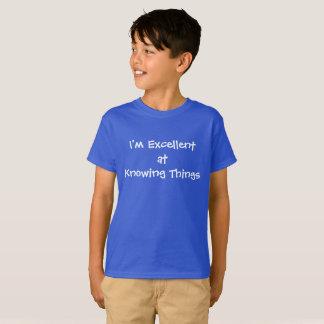 Camiseta Excelente en saber cosas
