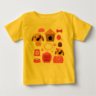 Camiseta exótica del perrito de los diseñadores