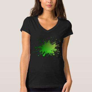 Camiseta Explosión del color verde. Ts. frescos