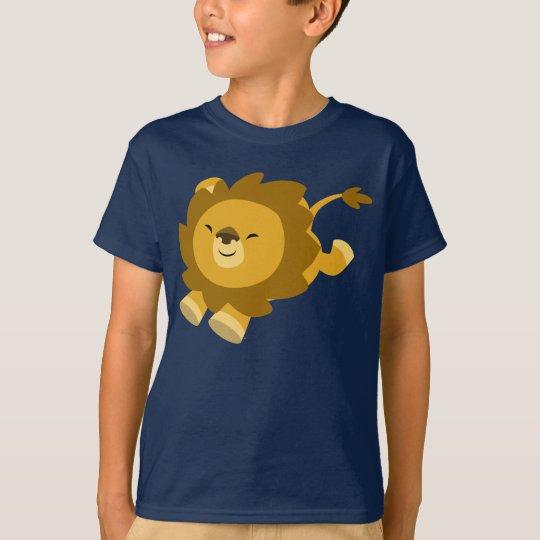 Camiseta extática linda de los niños del león del