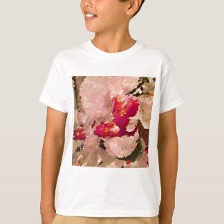 Camiseta Extracto rojo y blanco de la orquídea