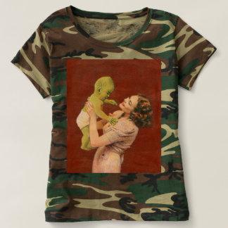 Camiseta extranjera del camuflaje de las señoras