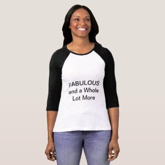 Camiseta fabulosa del béisbol
