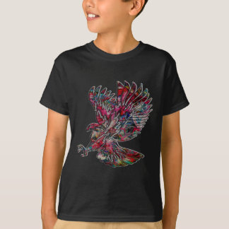 Camiseta Falso Eagle tribal metálico abstracto