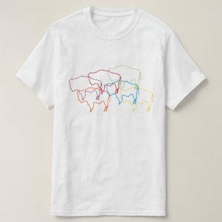 Camiseta falta de definición del orgullo del bisonte de