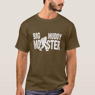 Camiseta fangosa grande del monstruo