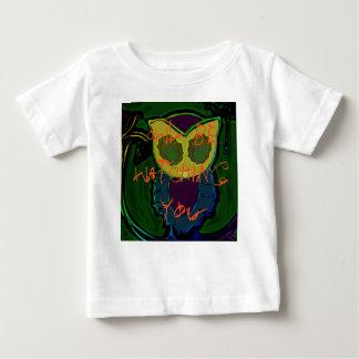 Camiseta fantasmagórica del bebé del búho