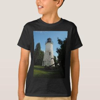 Camiseta Faro viejo de la isla de Presque