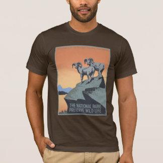 Camiseta Fauna del coto de los parques nacionales de