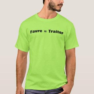 Camiseta Favre = traidor