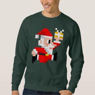 Camiseta fea de 8 bits del navidad de Papá Noel de