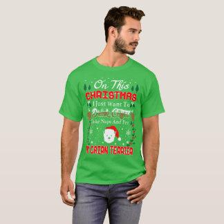 Camiseta fea del navidad de Terrier de mojón del