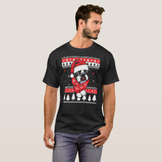 Camiseta fea del suéter del navidad de Boston