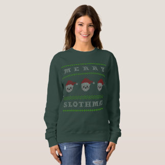 Camiseta fea divertida feliz Slothmas del navidad