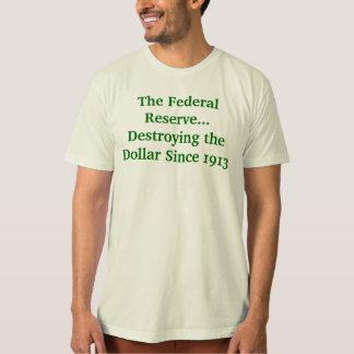 Camiseta Federal Reserve que destruye el dólar