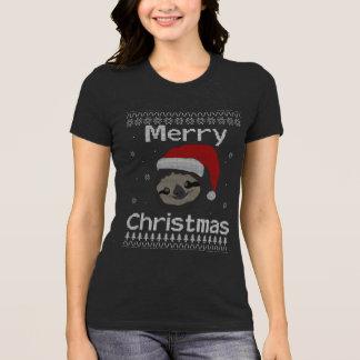 Camiseta Felices Navidad de la pereza